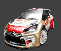 citroen ds3 wrc total 3D model