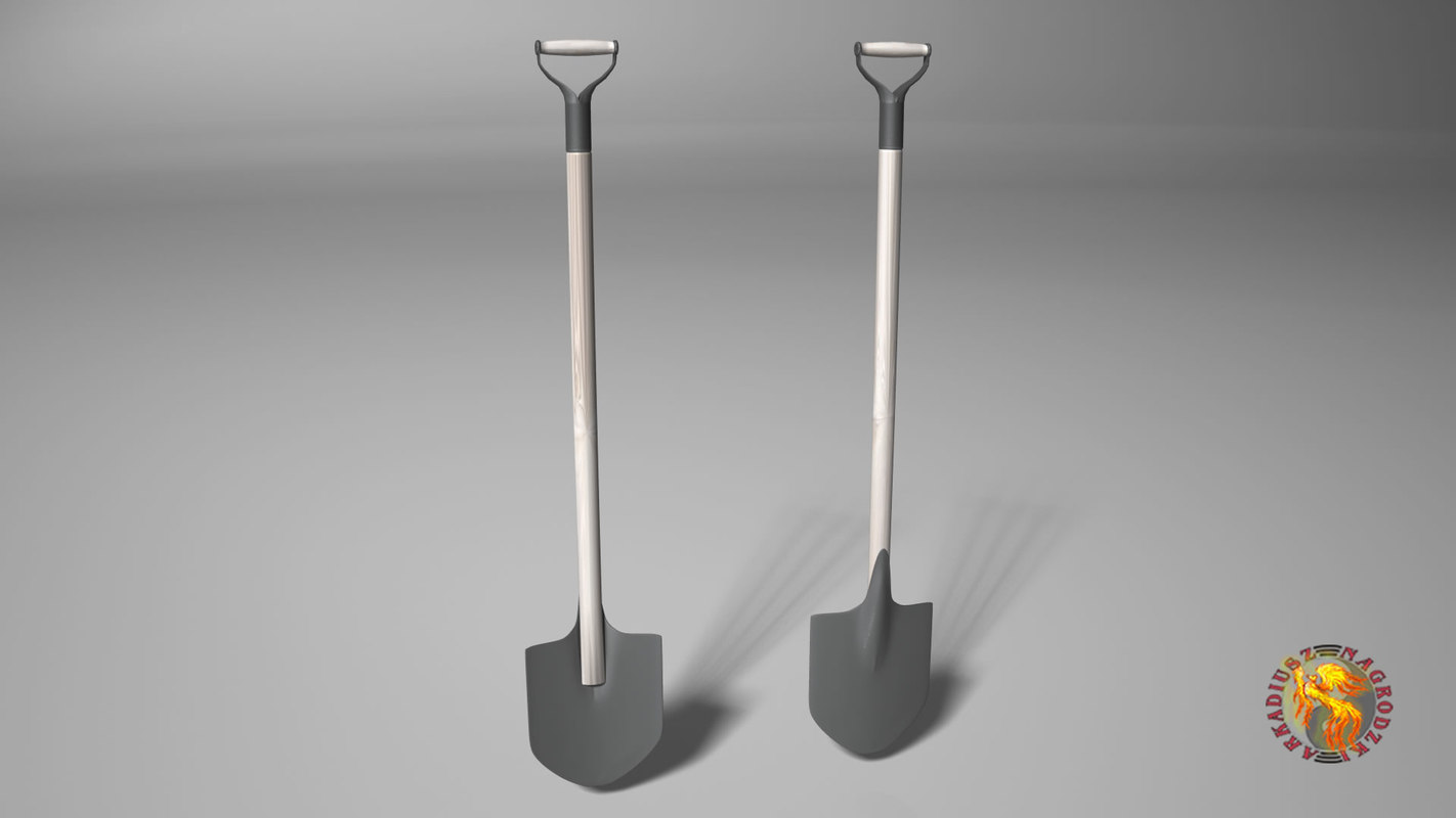 shovel garden tool 3D model