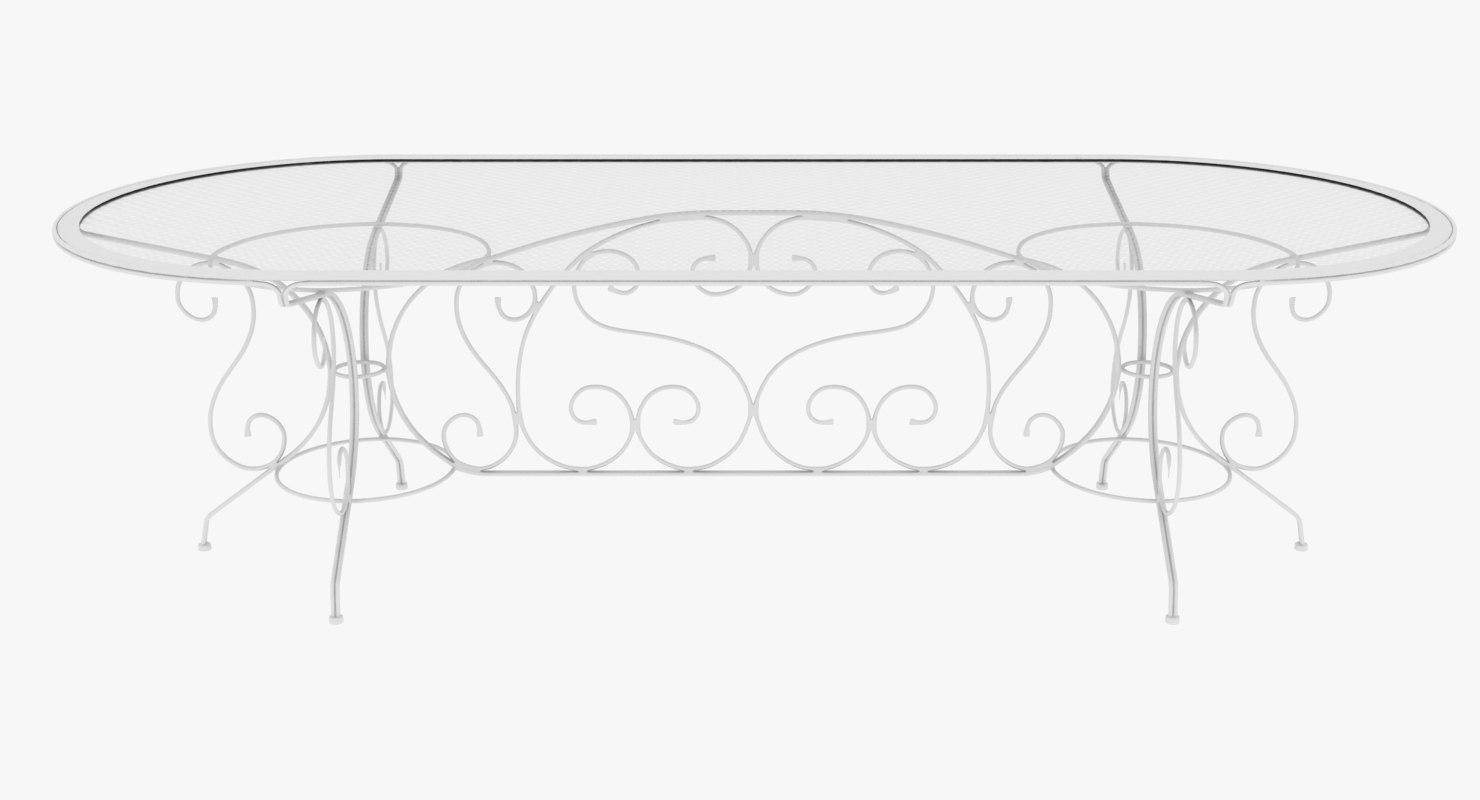 3D table long iron model