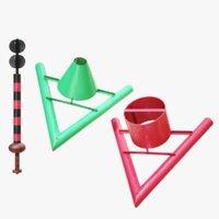 lightwave sailing route bouy 3D model