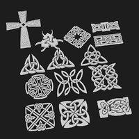 3D celtic ornament pack 3
