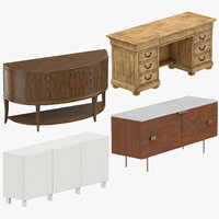 credenzas classical traditional 3D model