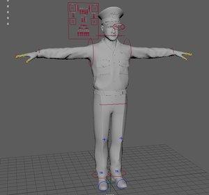 short 25 rigged motion capture 3D model