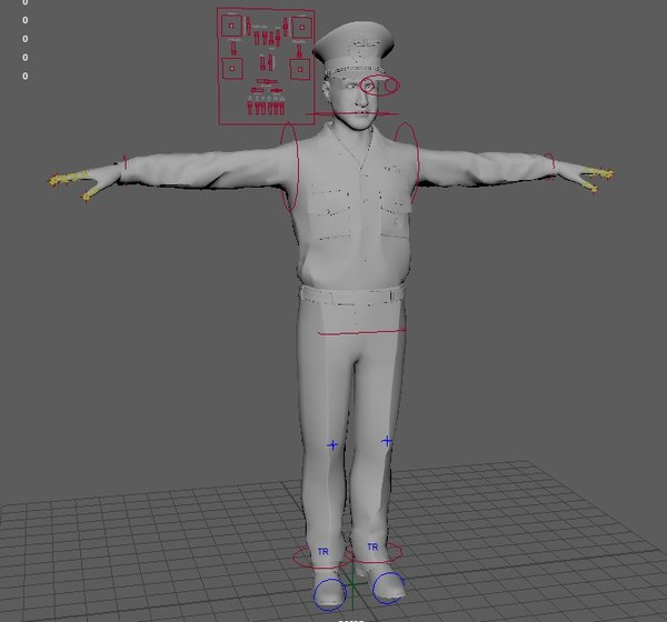 short 25 rigged motion capture 3D model