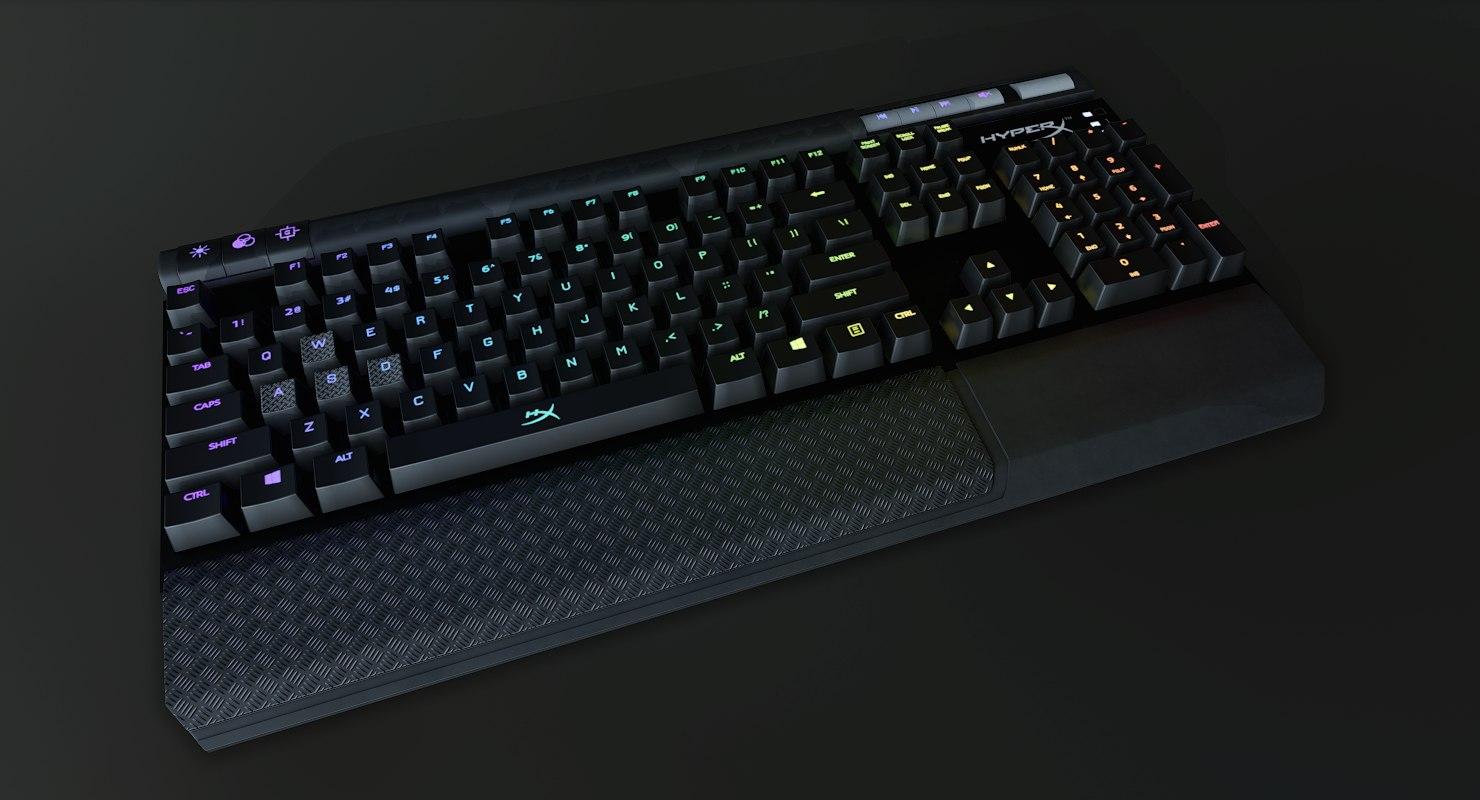 hyperx alloy elite mechanical 3D