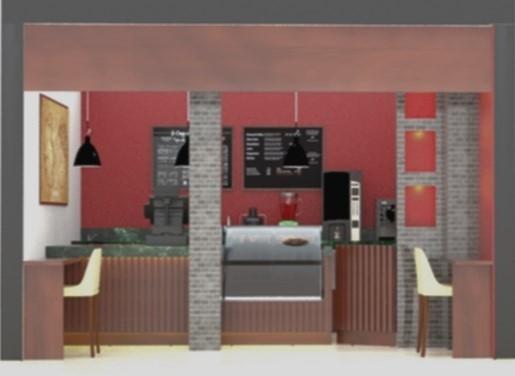 3D cafe shop model