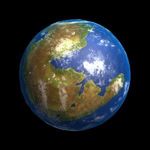 3D earth pangaea