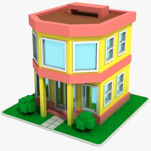 3D cartoon house 7 model