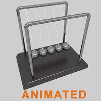 3D realistic newton s cradle