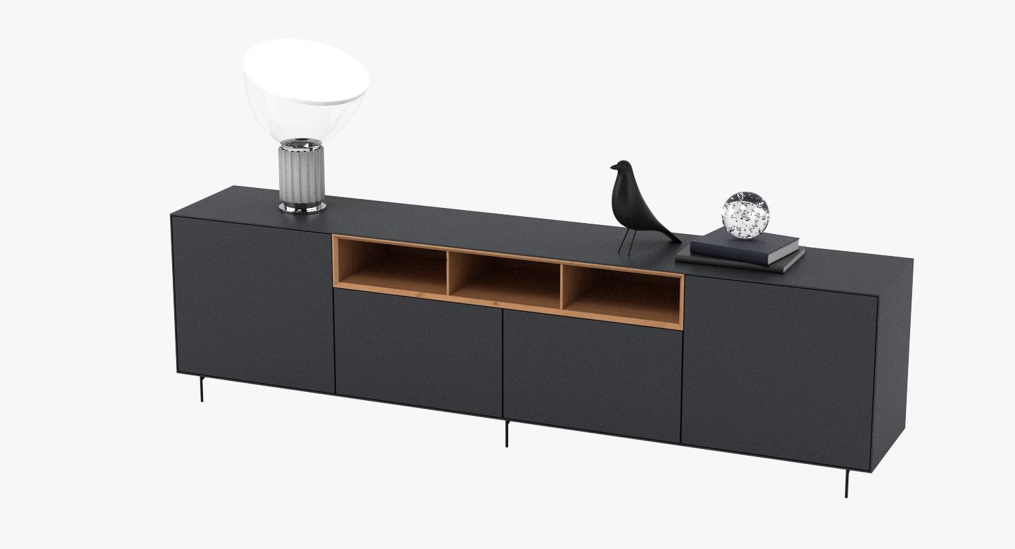 sideboard light realistic 3D model