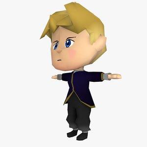 chibi boy 3D