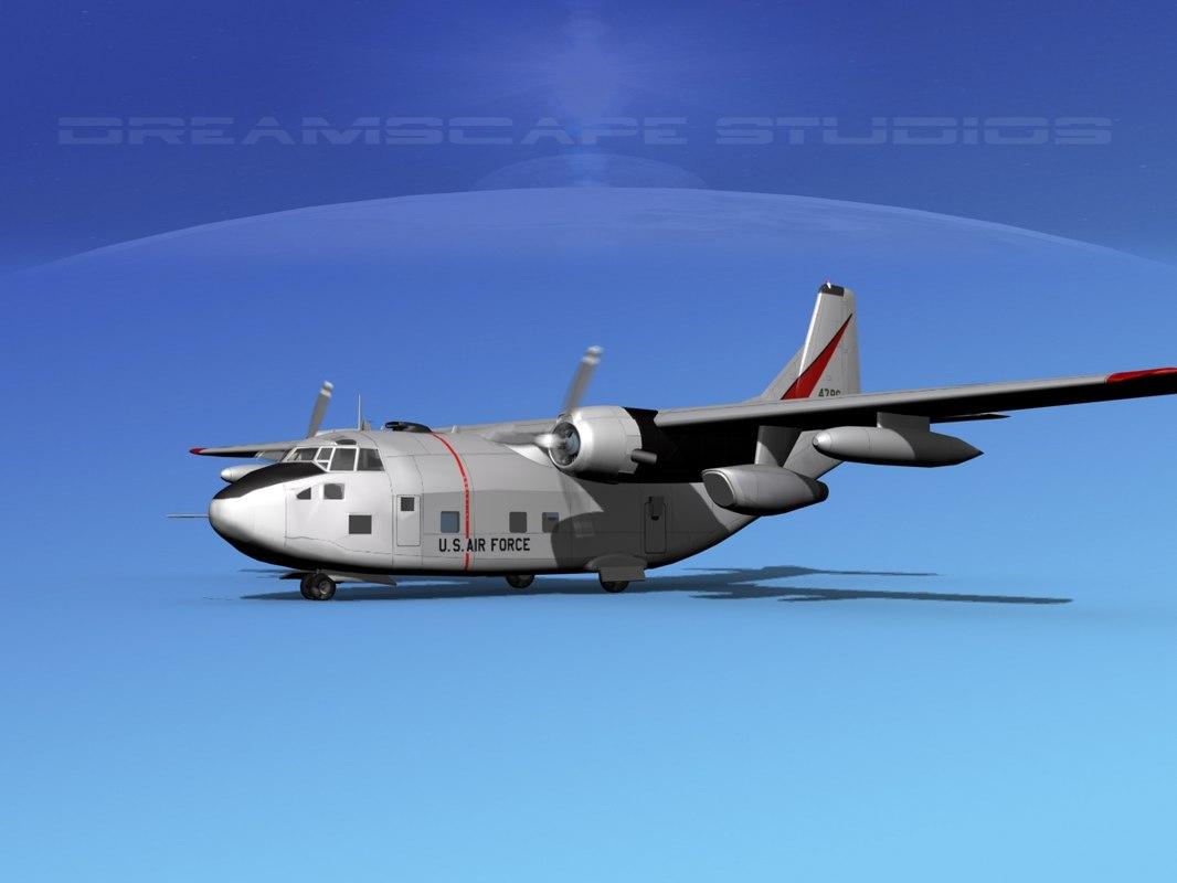 aircraft fairchild c-123 provider 3D