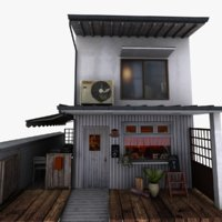 tokyo coffee shop 3D model