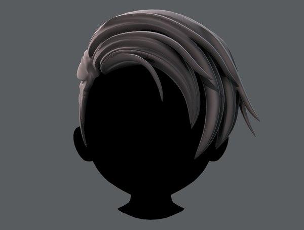 hair style boy v27 model