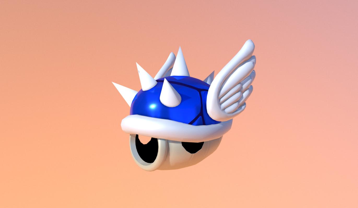 shell blue 3D model