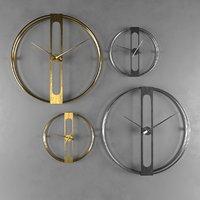 3D wall clock gold design model