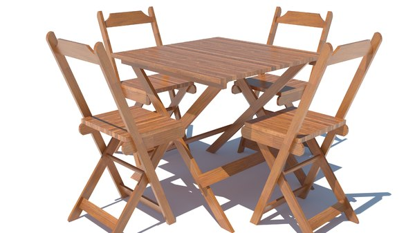 realistic table chairs 3D
