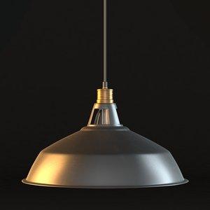 3D model axes pendant light 1