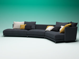 onda modular sofa 3D model