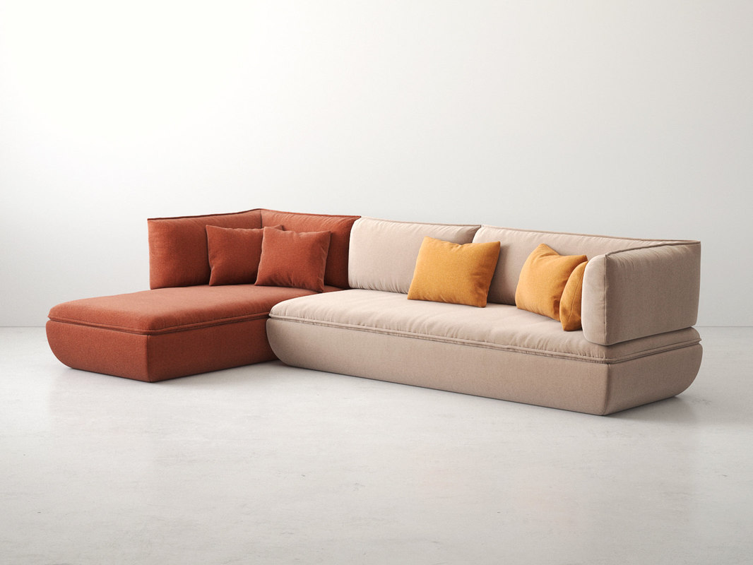 3D model mimic modular sofa comp