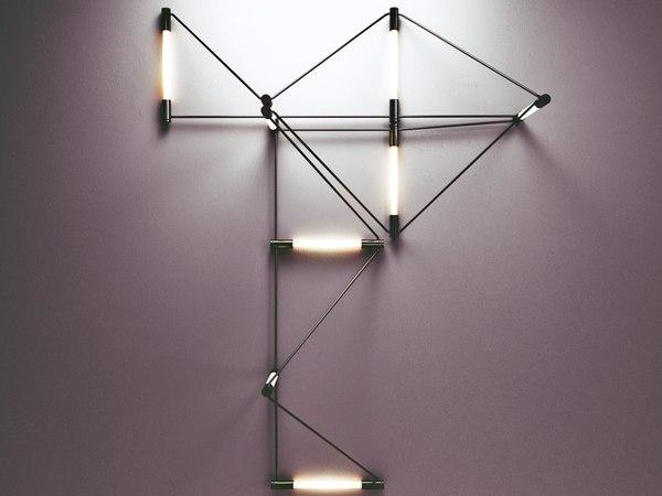 meta wall lamp 3D