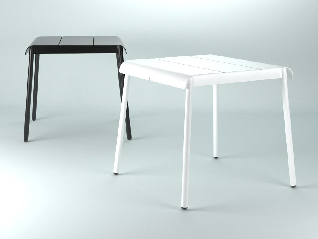 corail dining table square 3D