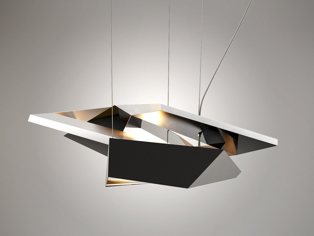 crash pendant light 3D model