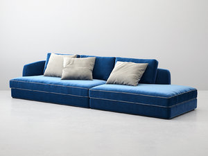 3D barrett sofa comp02 model