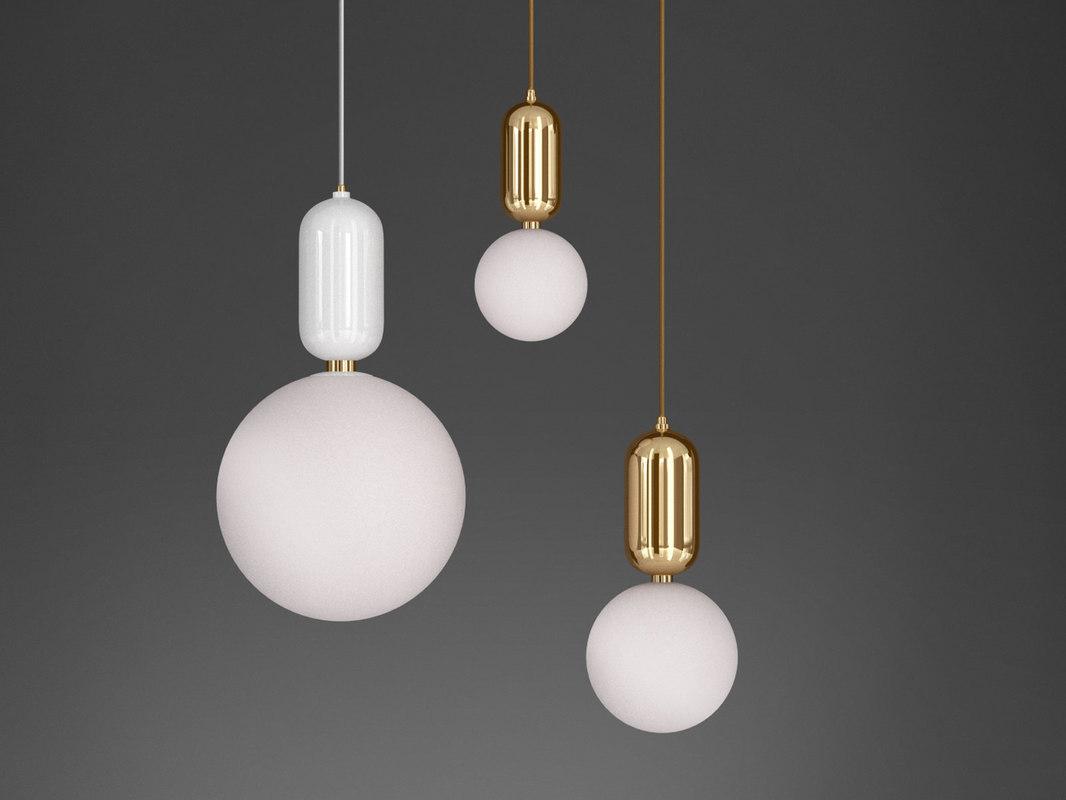 aballs pendant lights 3D model