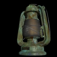 old oil lamp 3D model