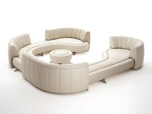 3D model ds-1064 modular sofa