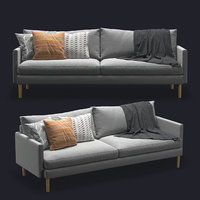 modern design 3-seater sofa 3D model