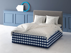 3D marquis bed model