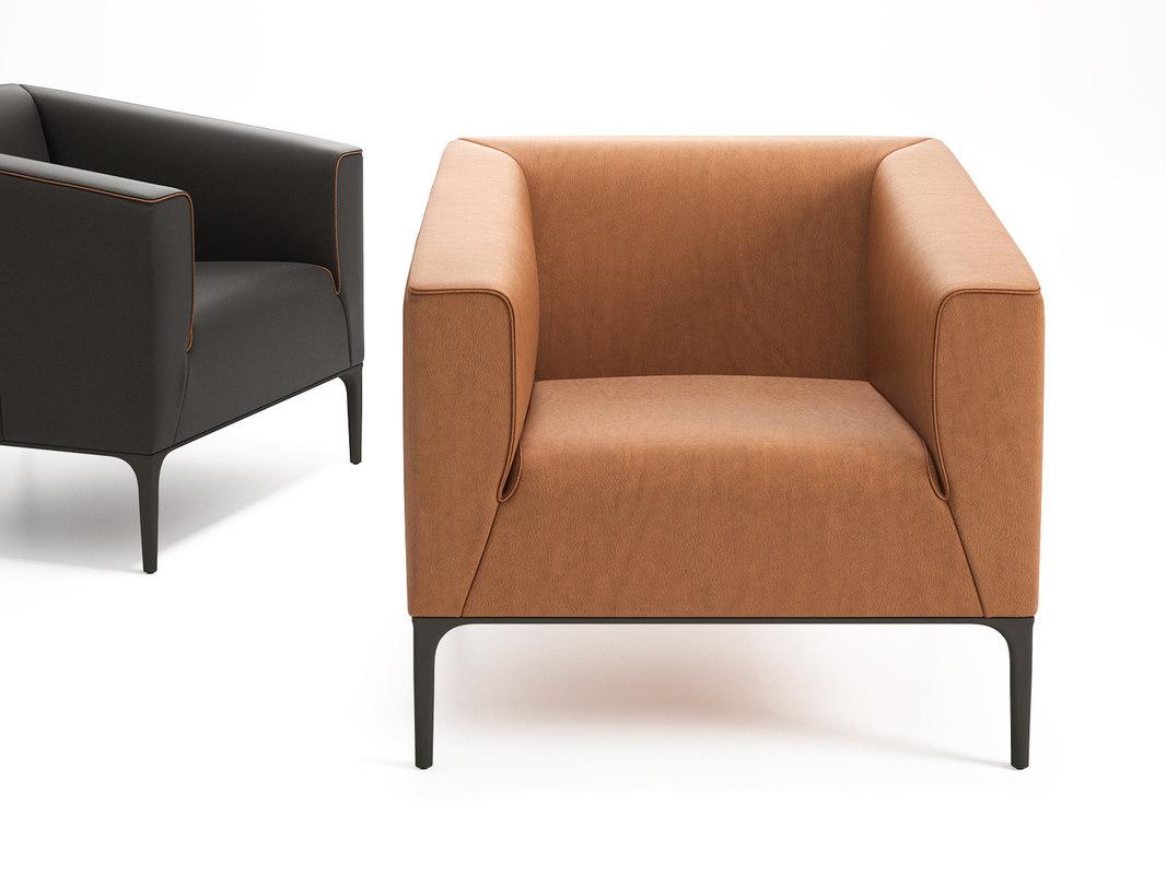 ds-161 01 armchair 3D