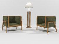3D 1507 furniture set design model