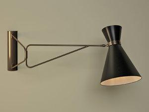 bergamo wall lamp 3D model