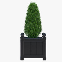 windsor planter 38cm small 3D model