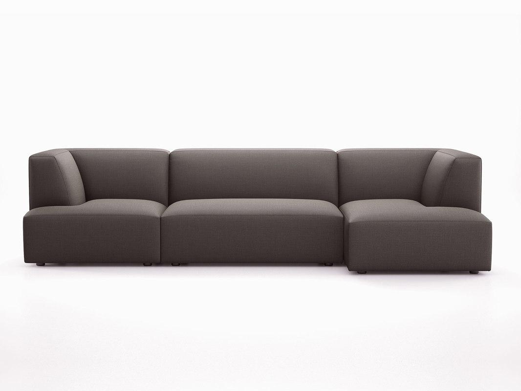 3D concept 1010 corner sofa model