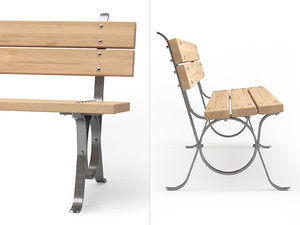3D lita outdoor bench