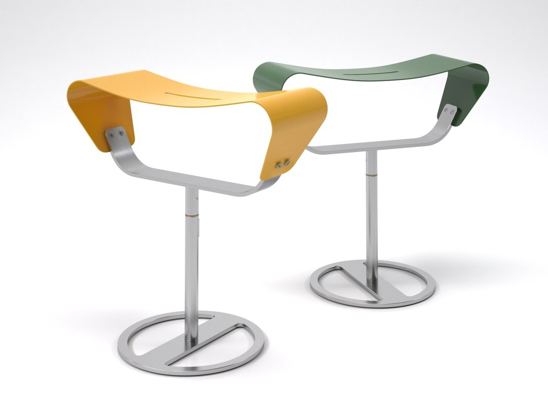 evolution outdoor stool 3D model