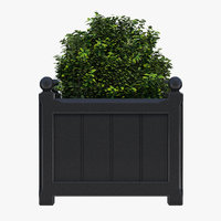 3D windsor planter 48cm medium model