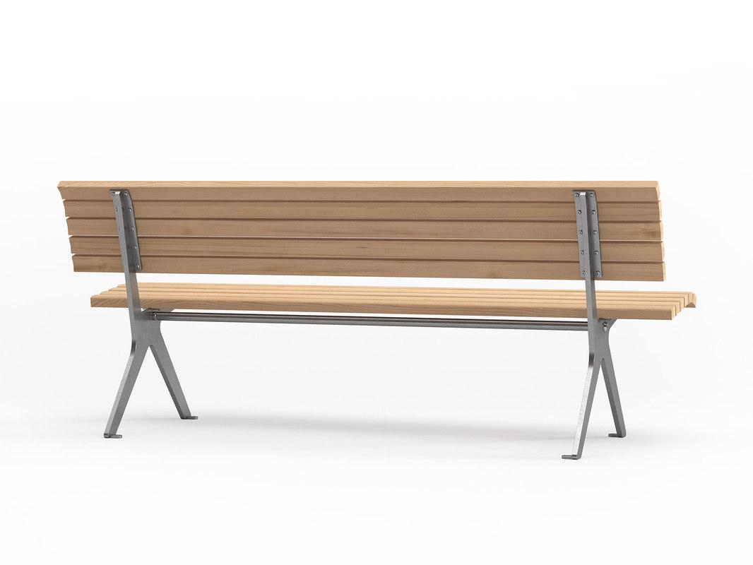 3D poca outdoor benches