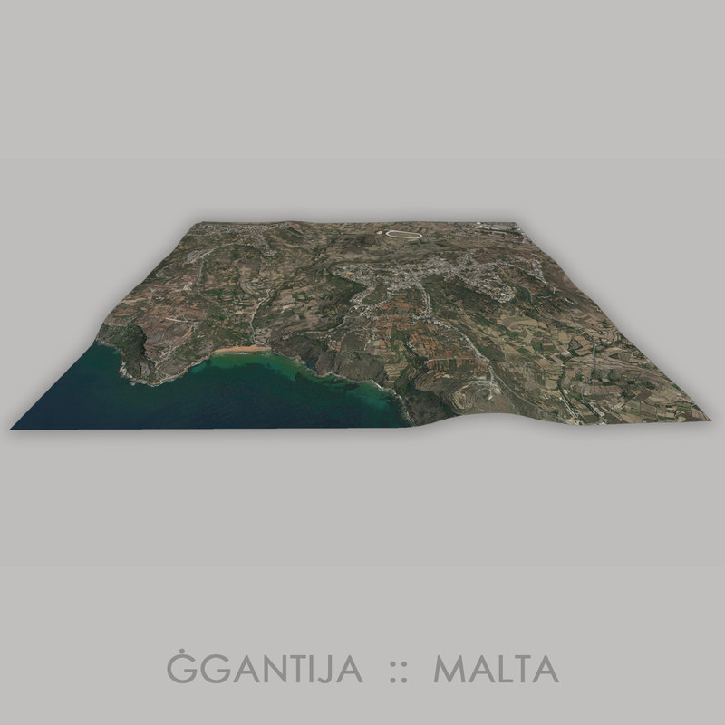 3D model ggantija megalithic temple gantija