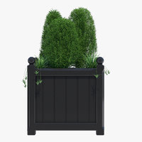windsor planter 65cm large 3D model