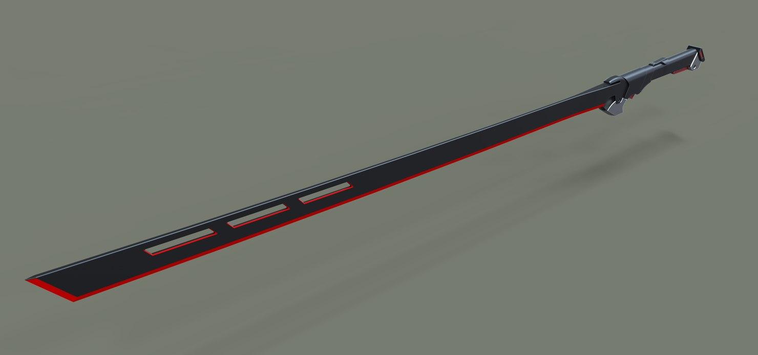 3D sword sci-fi model