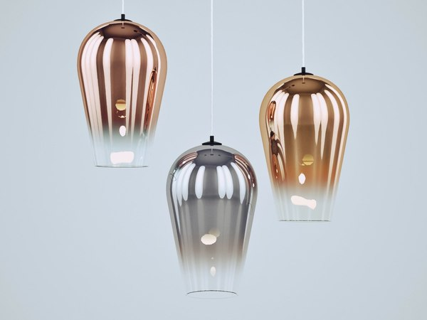 3D fade pendant light model