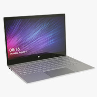 realistic xiaomi mi notebook 3D model