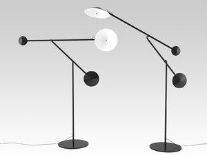 3D model cinétique floor lamp