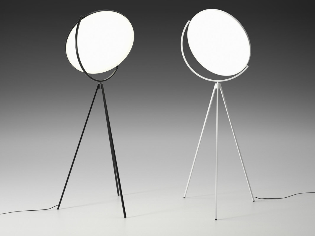 superloon floor lamp 3D model