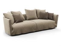 3D lov trend 3-seater sofa model